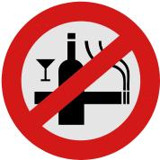воздержание от курения и умеренное употребление алкогольных напитков